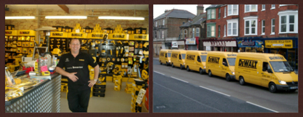 Dave Goodwin Posing in the Shop & a few Dewalt Van Boys have pulled up for some coffee!